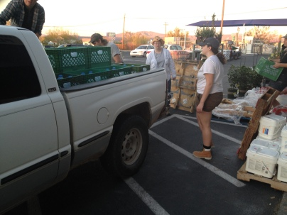 Picking up water by the pallet in Ajo, AZ