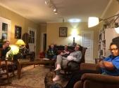 Enjoying Bennie's lovely art-filled home in Memphis