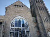 The striking sanitation workers in '68 gathered at this church before their daily marches