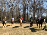 Taking a trail ride together at Pastor Matt's family's horse farm